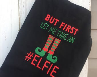 Christmas Apron / Embroidered apron / Customization avaliable