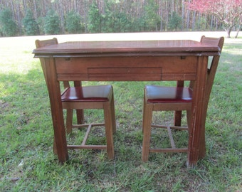 Enamel top table etsy vintage enamel top table extendable enamel table 1940s kitchen decorbrown dinette workwithnaturefo