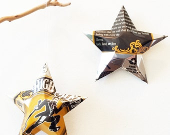 High Stepper ABV American IPA Beer Stars Christmas Ornaments Aluminum Can Upcycled Crooked Can Brewing