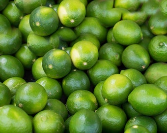 Photo Print or Canvas Gallery Wrap, Limes, Food Photos, Green Limes, Kitchen Photos, Fruit Photos