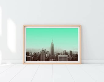 New York Printable Print, NYC Wall Print, New York wall art, Wall Art Decor, New York City Print, New York skyline, City Prints