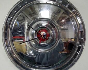 1955 - 1956 Ford Thunderbird and Fairlane Hubcap Clock