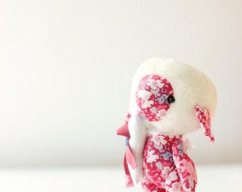 miniature stuffed toy sheep lamb toy red plush soft fabric rug doll