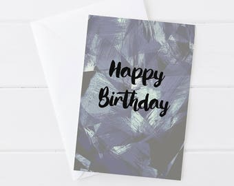 Happy Birthday Blank Greeting Card