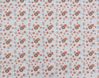 """Printed Fabric, White Fabric, Sewing Material, Home Decor Fabric, Craft Fabric, 44"""" Inch Cotton Fabric By The Yard ZBC9158A"""
