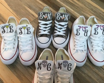 Woman's Embroidered Converse, Converse sneakers, embroidered sneakers, Chucks