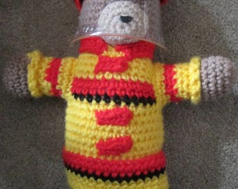 Amigurumi Fireman Bear - Crocheted