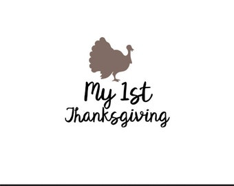 my 1st thanksgiving svg dxf file instant download silhouette cameo cricut clip art commercial use