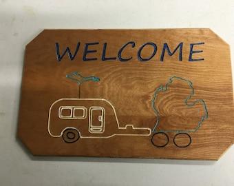 Michigan Camper Welcome Sign