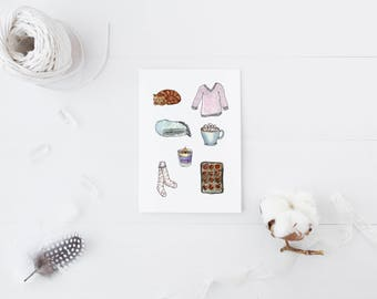 Hygge/Cosy Winter Items Printable