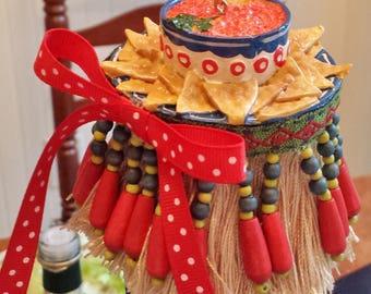 Fiesta Decorative Tassel Hot Salsa and Chips