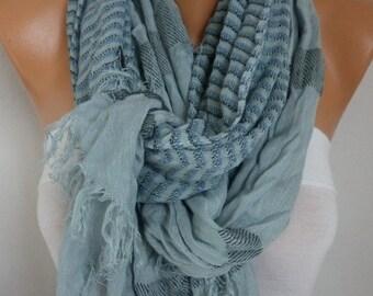 Gray Cotton Tartan Scarf,So soft,winter shawl,Plaid Men Scarf, Cowl,Gift Ideas for her him,fashion accessories