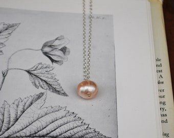 Pink and cream freshwater pearl necklaces