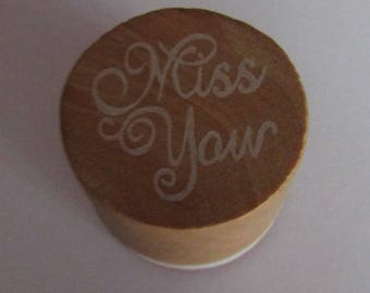 Wooden stamp 26mm high and 30mm in diameter for scrapbooking, cards or other crafts
