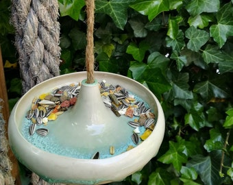 Bird feeder ceramic handmade