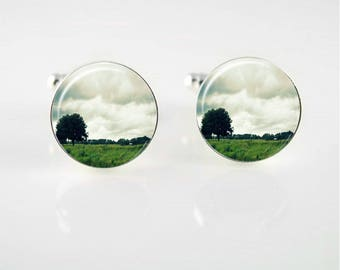 Lone Tree Cuff Links or Tie Clip