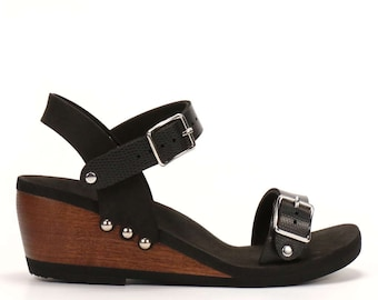 Mid Ankle Strap Sandal - Made in USA
