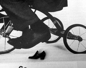 HOOD Rubber Miniature Advertising Metal Shoe 1920s