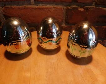 Ceramic large Easter Eggs, Easter Décor, Easter eggs, Easter, Three Easter Eggs