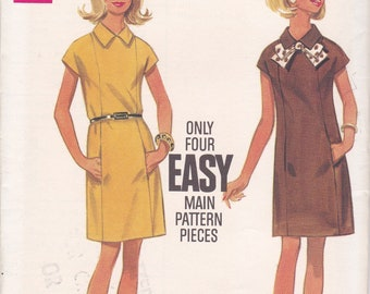 FREE US SHIP Butterick 4996 Sewing Pattern Vintage Retro 1960s 60s Mod Dress Size 10 Bust 32.5 Factory Folded