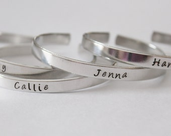 Personalized NAME Bracelet cuff- You choose the Name - made just for you - custom bracelet