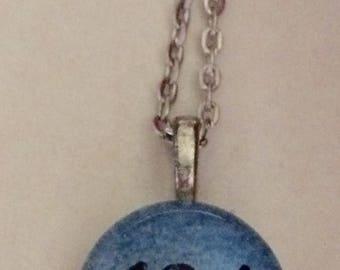 13.1 Half Marathon Running  Art Glass Pendant Necklace  - Runner's Jewelry