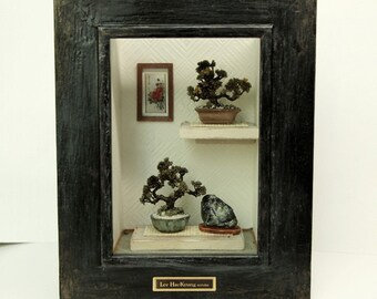 Oriental Bonsai tree (Frame No.3) Asian Traditional Dollhouse Miniatures 1/12