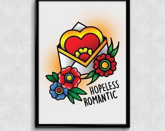 Hopeless Romantic-Print din A5