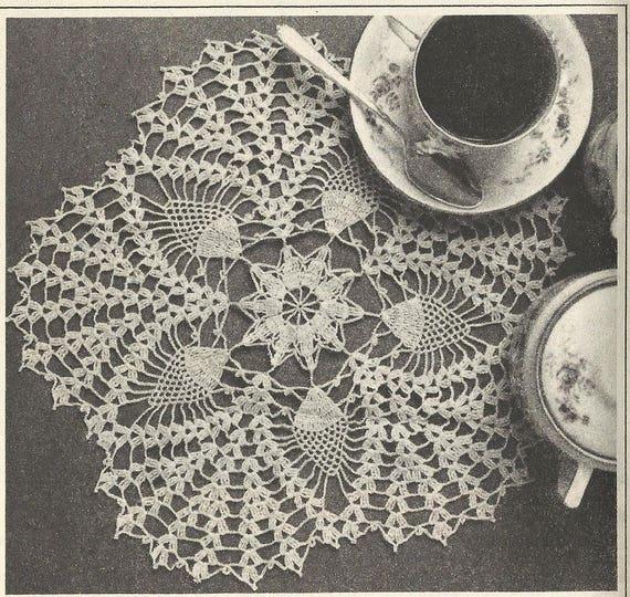 Pineapple Star Doily PATTERN 8805 Vintage Crochet pattern from ...