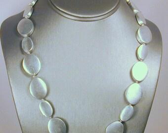 Bold Brushed aluminum in bold necklace