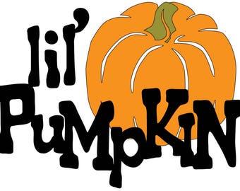 lil' Pumpkin Infant Bodysuit - Halloween Baby Onesies Bodysuit - Fall - Baby's First Halloween - Sizes Preemie to 24 Month