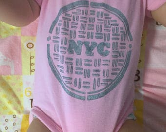 NYC Sewer Grate Baby Onesie Gift