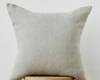 Linen Pillow Cover in Sand Natural