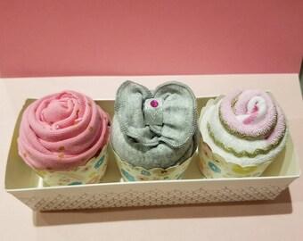Baby Gift Set, Onesie Cupcakes, Baby Onesie, Baby Shower Gift Set