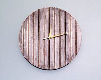 Rustic Silver & Gold Clock