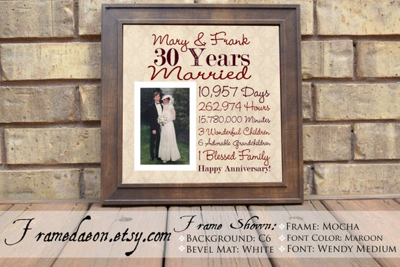 Gift For 30 Wedding Anniversary: Wedding Anniversary 30th Wedding Anniversary Gift Parent