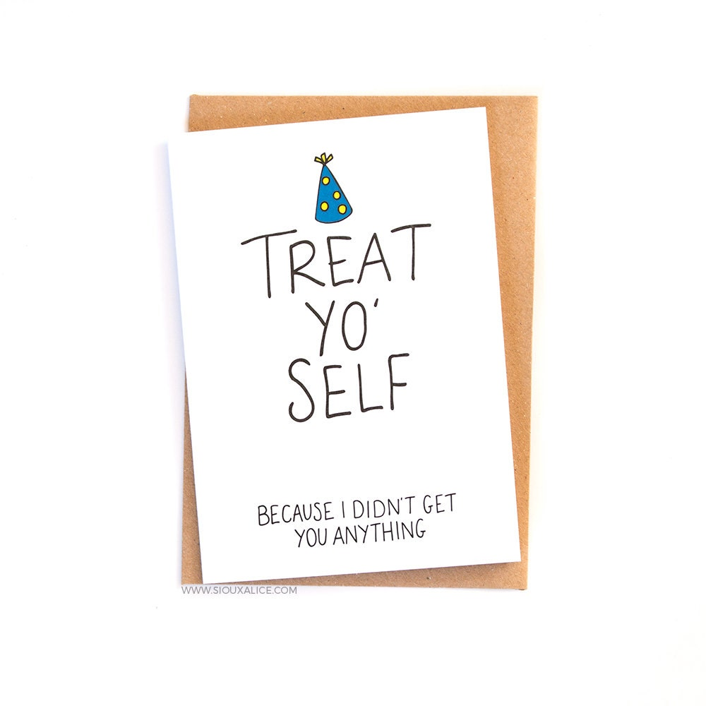 Funny Birthday Card No Gift Card Greetings Card Friend