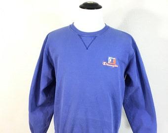 90's champion v gusset sweatshirt 93 / 7 cotton poly blend size large