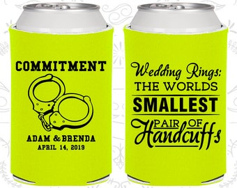 Wedding Rings, The Worlds Smallest Pair of Handcuffs, Wedding Keepsake, Handcuffs, Commitment, Beer Holders (505)