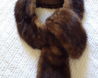 50s brown vintage fur collar