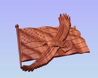 American Flag Wood Art, Wooden American Flag Wall Art, American Bald Eagle Wood Carving, Patriotic Decor, Military Wall Decor, Vet Gift Idea