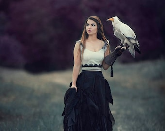 DISCOUNTED 8x12 Fantasy Print featuring an Egyptian Vulture | Vulture, Fantasy, bird of prey, Egyptian Vulture, Dark, Magical