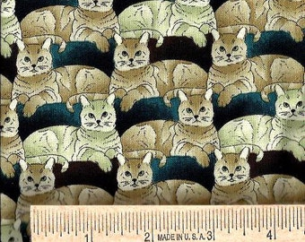 Shamash & Sons Fabric - CATS MULTIPLIED - 100% Cotton - Quilt Shop Quality Fabric