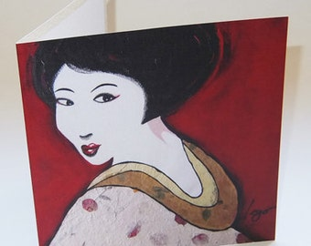 JAPAN1 greeting card