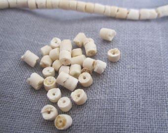 Heishi beads 50 natural coconut