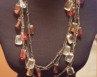 Stiking Pair of Multicolored Vintage Beaded Necklaces