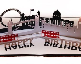 3D SVG Pop up card London Scene DIGITAL download
