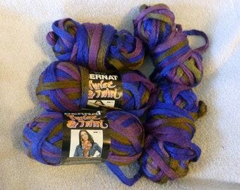 Bernat Twist & Twirl Yarn Color Desert Blue  Med #4 All Shown Full / Partial Skeins Destash Lot