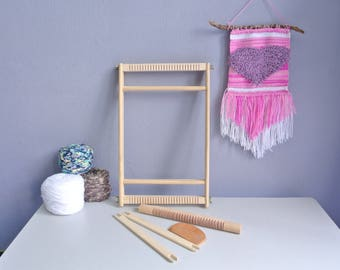 Weaving Loom Kit for beginner,Heddle Bar Loom,Weaving Loom 20 x 40CM,Weaving kit,frame Loom,Tapestry Loom,Loom kit,weaving supplies,Loom