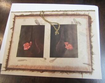 Nestled Babies - handmade card honoring motherhood, baby, Rumi, Geddes, Nurture, love, maternity, pregnant, twins, shower, mother